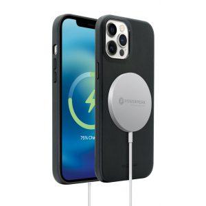 Base MagSafe Compatible Vegan Leather Case For iPhone 2021 (6.1) - Black