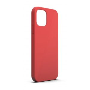 Base MagSafe Compatible Liquid Silicone Gel/Rubber Case for iPhone 13 (6.1) - Red