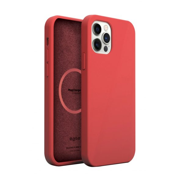 Base MagSafe Compatible Liquid Silicone Gel/Rubber Case iPhone 13 Pro Max (6.7) - Red
