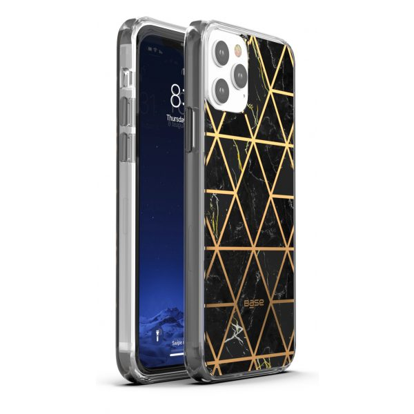 Base iPhone 13 PRO (6.1) - Marble Luxury Shockproof Cover Case - Black (LIMITED EDITION)
