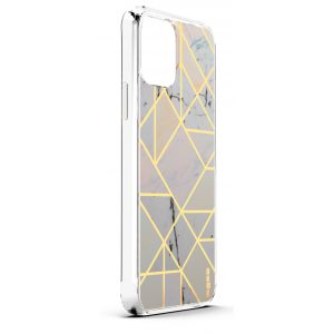Base iPhone 2021 (6.1) - Marble Luxury Shockproof Cover Case - White (LIMITED EDITION)