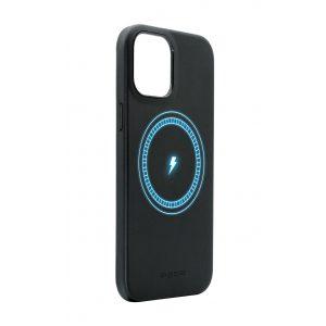 Base MagSafe Compatible Vegan Leather Case For iPhone 13 (6.1) - Black