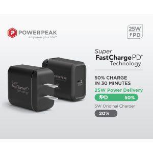 PowerPeak 25W USB-C Power Adapter PD