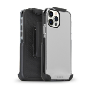 Base iPhone 12 / iPhone 12 Pro (6.1) - BORDERLINE Dual Border Impact protection with Holster - Black