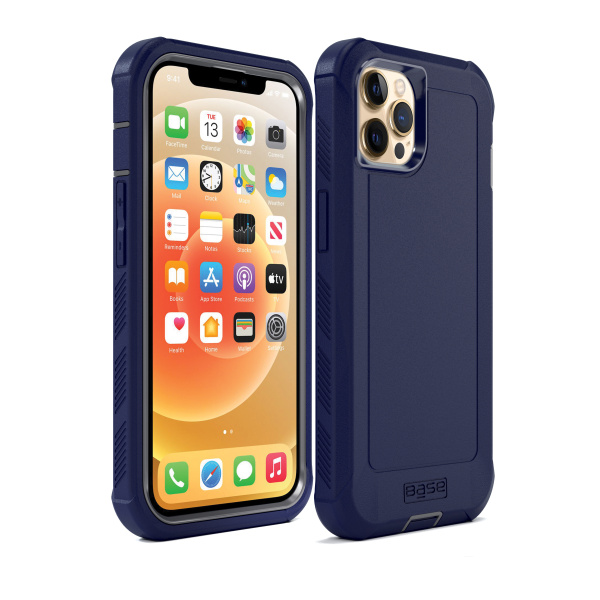IPHONE 13 (6.1) PRO - BOULDER -  HEAVY-DUTY CO-MOLDED RUGGED PROTECTIVE CASE - BLUE (Limited Edition)