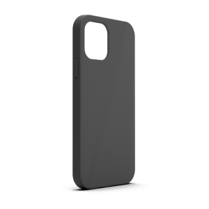 Base MagSafe Compatible Liquid Silicone Gel/Rubber Case for iPhone 13 (6.1) - Black