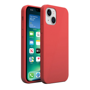 Base MagSafe Compatible Liquid Silicone Gel/Rubber Case iPhone 13 (5.4) - Red