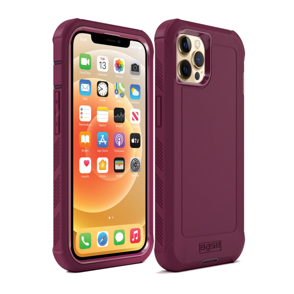 IPHONE 13 (6.1) PRO - BOULDER -  HEAVY-DUTY CO-MOLDED RUGGED PROTECTIVE CASE - PINK (Limited Edition)
