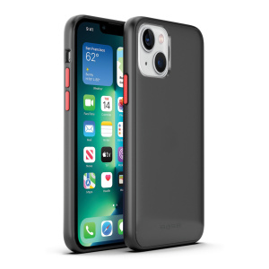 Base iPhone 13 (6.1) - DuoHybrid Reinforced Protective Case  - Clear/Black