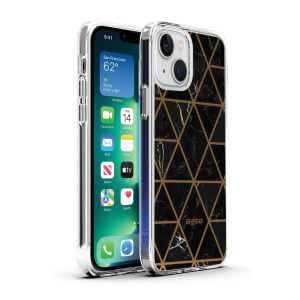 Base iPhone 13 (6.1) - Marble Luxury Shockproof Cover Case - Black (LIMITED EDITION)