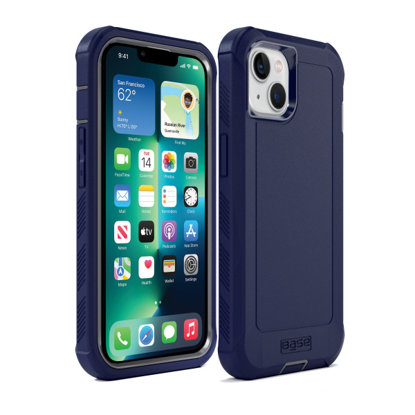 IPHONE 13 (6.1) - BOULDER -  HEAVY-DUTY CO-MOLDED RUGGED PROTECTIVE CASE - BLUE (Limited Edition)